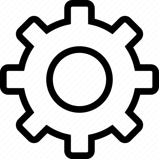 cog, config, gearwheel, settings icon