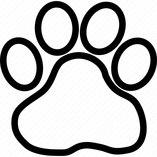 animal, foot, paw, trace icon