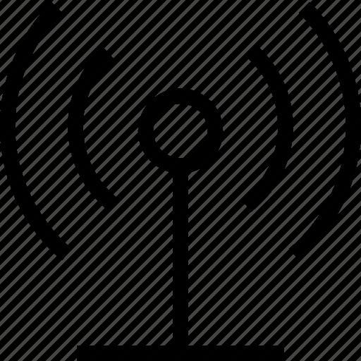 antenna, network, signal, wlan icon