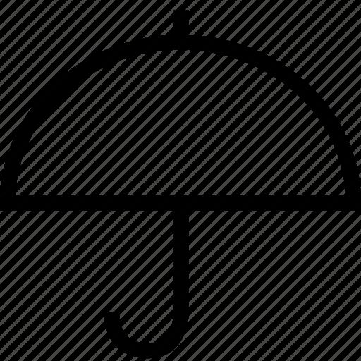 logistics, protection, umbrella, weather icon