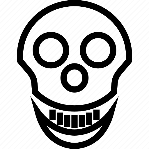 danger, dead, death, skull icon