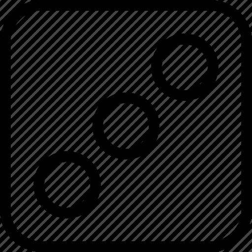 bingo, dice, game, three icon
