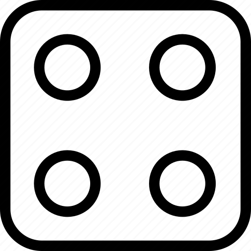 bingo, dice, four, game icon
