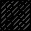 dice, bingo, game, six