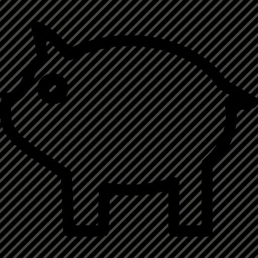 bank, pig, piggy bank, savings icon