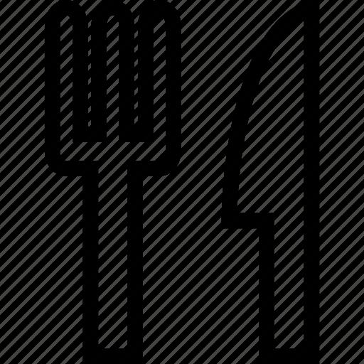 fork, kitchen, knife, restaurant icon