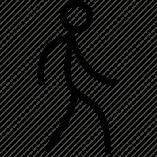 action, man, walk, walking icon