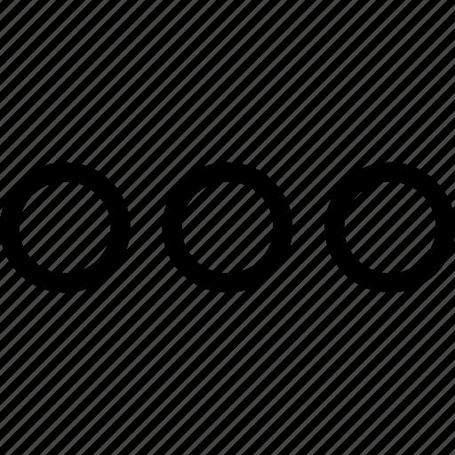 ellipsis, menu, more, speech icon