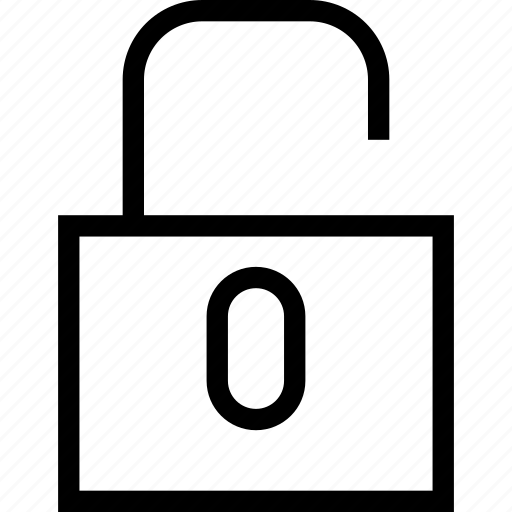 lock, secure, unlock, unlocked icon