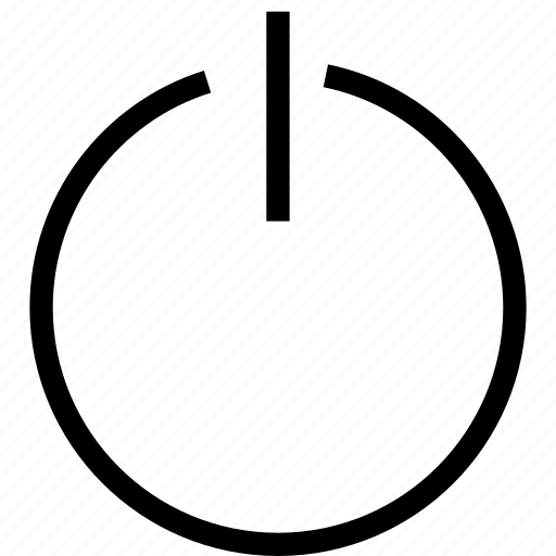 power, sleep, standby, stop icon