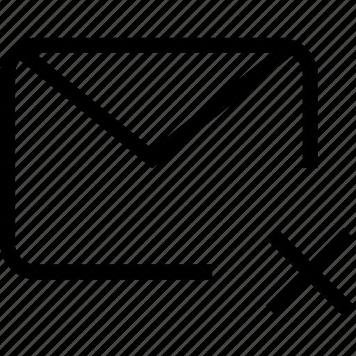 account block, block, delete, email icon