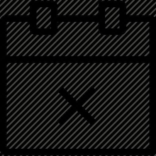 calendar, cancel, date, schedule icon