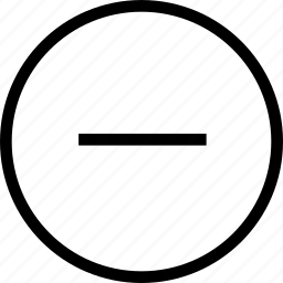 circle, delete, minus circle, remove icon
