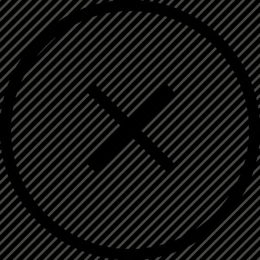 circle, circular, cross circle, round icon