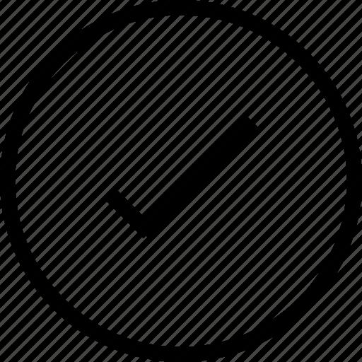 accept, check, check circle, yes icon