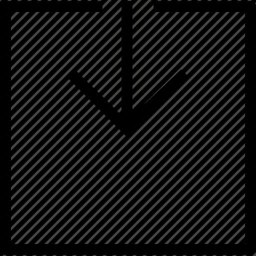 app, arrow, down, download icon
