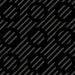 apps, arrange, creative, grid icon