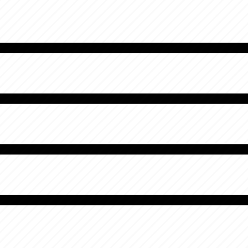 align justify, horizontal, lines, text icon