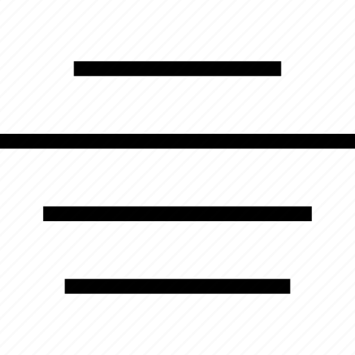align, center, document, text icon