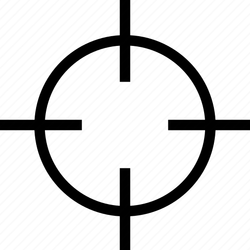 aim, crosshair, goal, target icon