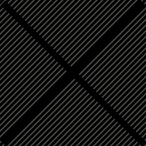 cancel, checkmark, close, cross icon