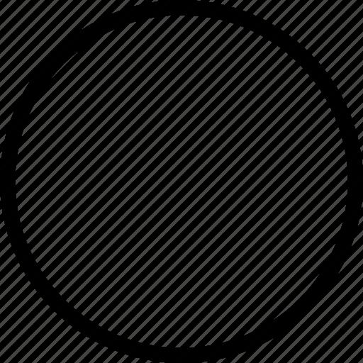 circle, circle thin, circular, round icon