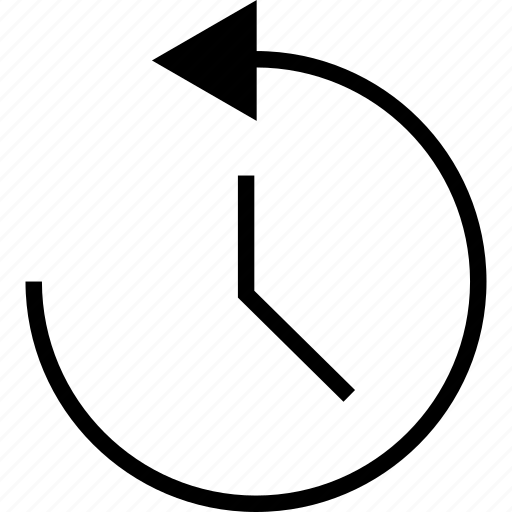 anticlockwise, arrow, counterclockwise, rotate icon