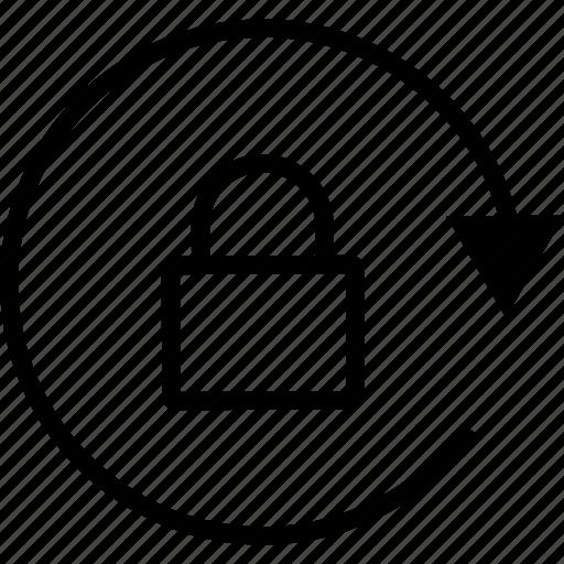 lock, locked, password, rotate icon