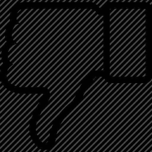 bad reputation, fail, negative result, thumb down icon