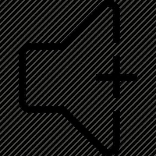 increase, sound, speaker, volume icon