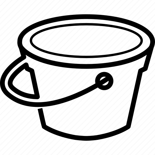 bucket, color, paint, tool icon