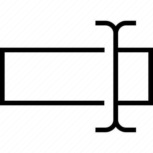 field, insert, textfield, type box icon