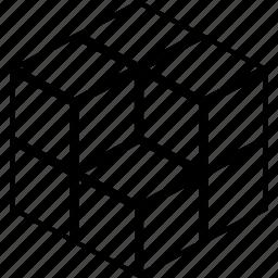 cube, cubic, db, rubik icon