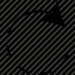 arrow, loading, loading arrow, right icon