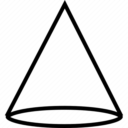 cone, creative, shape icon