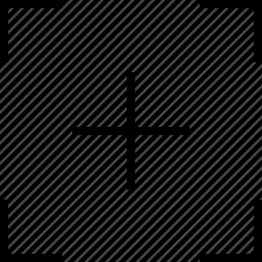 cropping, cropping target, goal, target icon