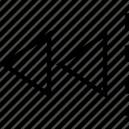arrow, back, previous, rewind icon