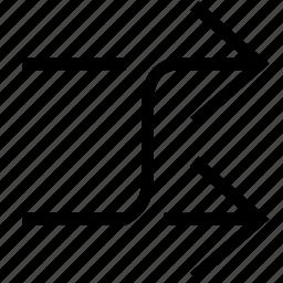 arrows, cross, random, shuffle icon