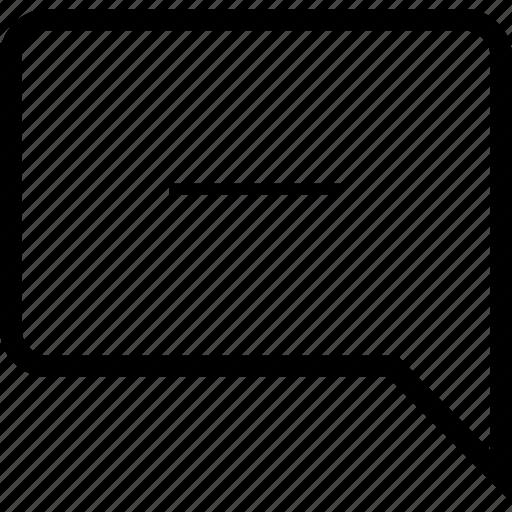 chat, error, minus, remove icon