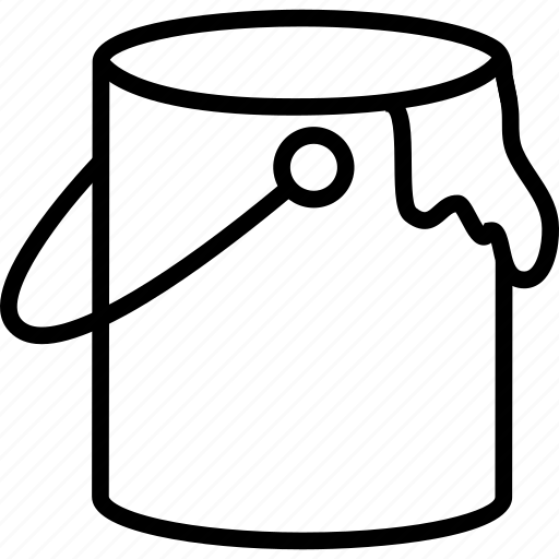 Bucket, can, paint, stain icon | Icon search engine