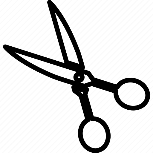 cut, edit, scissor, tool icon