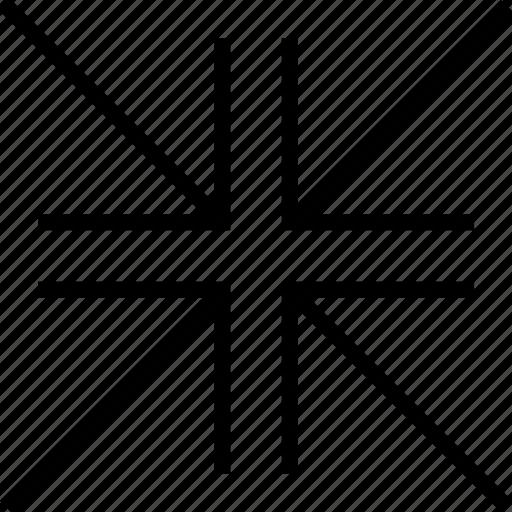 arrows, close, exit, minimize icon