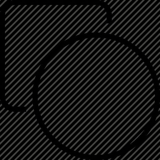 circle, creative, shapes, square icon