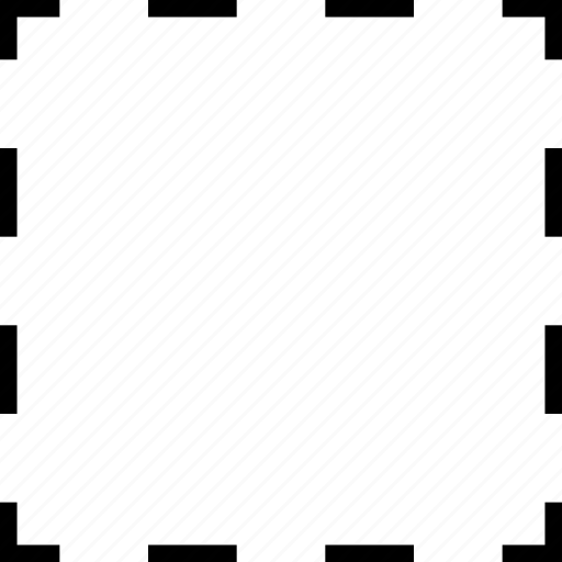 dotted, selection, shape, square icon