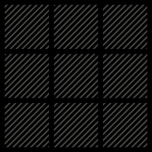 grid, shape, squares icon