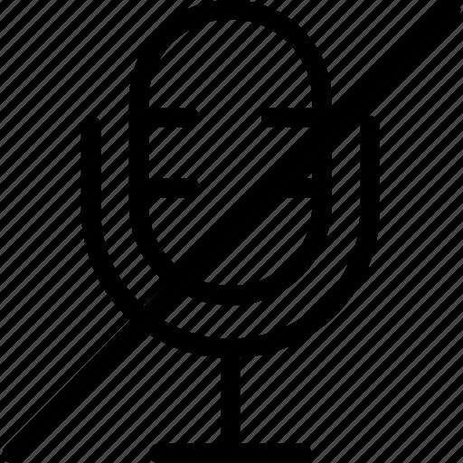 microphone, mute, sound, volume icon