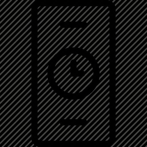 clock, mobile clock, stylish clock, timer, webshop icon