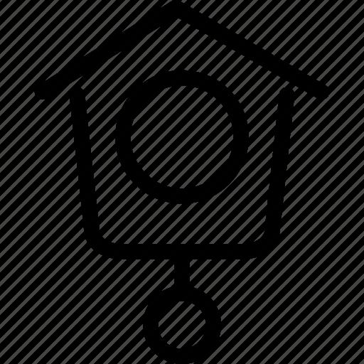 clock, stylish clock, timer, wall clock, webshop icon