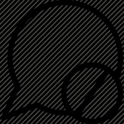 block, block message, conversation, speech balloon icon