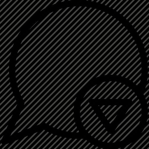 conversation, drop, guardar, save, speech balloon icon
